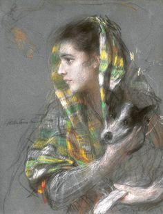 Lady with a Dog - Teodor Axentowicz