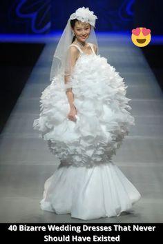 Funny Wedding Dresses, Weird Wedding Dress, Tacky Wedding, Crazy Wedding, Wedding Dress Gallery, Wedding Bridesmaid Dresses, Designer Wedding Dresses, Wedding Attire, Wedding Gowns