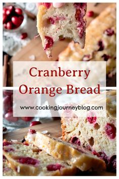 Easy quick bread recipe with cranberries and warming spices. Perfect make ahead Christmas breakfast idea for the whole family. Moist, delicious Christmas loaf cake with orange glaze.