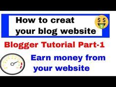 Blogger Setup Part 1 Book Stationery, Web Technology, Latest Gadgets, Earn Money, Social Media, Website, Blog, Earning Money, Blogging