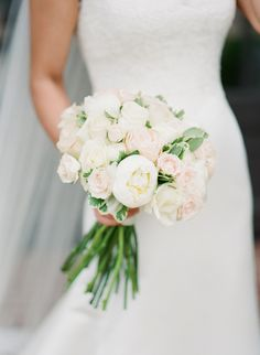 Palest blush and white bouquet | Ashley Upchurch