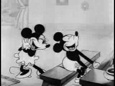 "Mickey Mouse & Minnie Mouse in ""Puppy Love"" (1933). I love this one!"