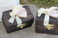 Wedding Ring Bearer Box Set His and Hers by MichelesCottage, $53.00