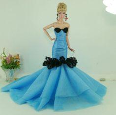 APHRODAI Fashion Royalty Designer Silkstone Barbie Model Gown Outfit Dress Dolls | eBay