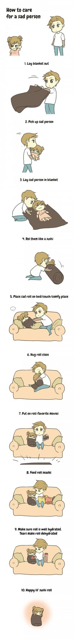 How to care for a sad person ♥