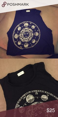 Brandy Melville Top Never worn. Perfect condition cropped muscle style tee Brandy Melville Tops Muscle Tees