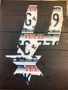 San Antonio Spurs license plate logo by artmerican on Etsy, $60.00
