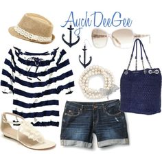 A Little Nautical Summer, created by aychdeegee on Polyvore