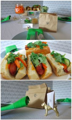 Doggie inspired Tablescape #partyplanning #tabletopdecor #hotdog