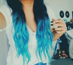 Beautiful blue ombre