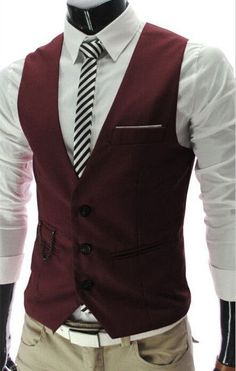 2017 New Arrival Slim Fit Suit Vests For Men