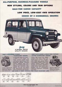 67 Ideas For Cars Jeep Renegade Vintage Jeep, Vintage Trucks, Old Trucks, Vintage Ads, Vintage Posters, Jeep Pickup, Jeep Truck, Willys Wagon, Jeep Willys