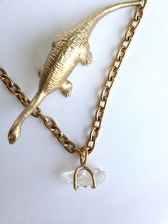 One of a Kind Raw Quartz Crystal Claw Prong Necklace