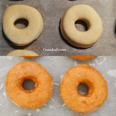 Donuts caseros clásicos Tapas, Wok, Doughnut, Food And Drink, Desserts, Homemade Donuts, Egg Wash, Thermomix, Tailgate Desserts
