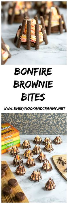 Halloween may be gaining popularity slowly over here in England but Bonfire Night is and always has been much more of a celebration. I say celebration and of course, I mean an excuse to bake! Brownie Bites, Brownie Bar, Bonfire Night Cake, Bonfire Night Themed Food, Bonfire Parties, Beach Bonfire, Yorkshire Parkin, Guy Fawkes, Night Snacks