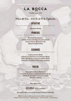 GASTRONOMÍA EN ZARAGOZA: Menú del día en el Restaurante La Bocca - Mediterr...