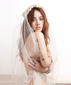 """Lee Hyori """"Walk lightly in the spring, mother earth is pregnant"""" (Native American proverb) date: unsure when she got the tattoo, but this is the May 2013 cover of Nylon Korea. Lee Hyori, Nylons, Korean Girl, Asian Girl, Native American Proverb, Jihyo Twice, Asian Makeup, K Idol, Poses"""