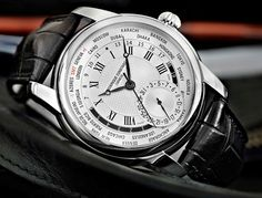 Frederique Constant Worltimer Silver Dial Theme Shot. Super classy with a lot under the hood, including complications that allow the whole watch to be controlled with the crown. Impressive.