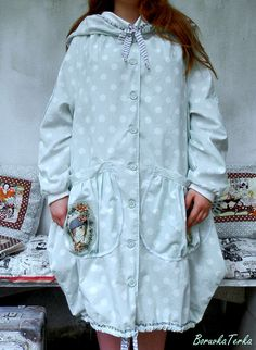 "\""Wedding Bohemian Romance\"" - Balonový kabát Shabby, Raincoat, Romance, Bohemian, Shirt Dress, Jackets, Shirts, Wedding, Clothes"