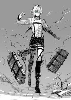 I really love it when Armin looks like a badass :D - Shingeki no Kyojin; Armin Alert