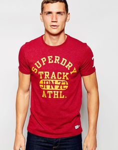 Superdry T-Shirt with Track Athletic Print