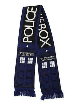 omg. OMG. O.M.G. MUST HAVE THIS Doctor Who TARDIS Scarf