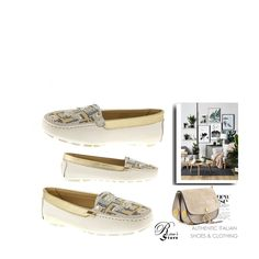 A fashion look created by Nura-Fashion featuring Authentic Loriblu Leather Italian Moccasine New Sizes 6 White Street Style Trends, Lace Tops, Women's Shoes, Fashion Shoes, Beige, Tote Bag, Leather, Fashion Trends, Woman Shoes