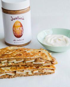 Almond Butter and Apple Breakfast Quesadilla