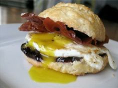 Grain-Free Biscuits Served With Bacon Egg and Cheese #HealthBent   #FoodRenegade