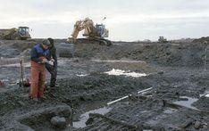 Sønderjyllands Museum excavates fishing plant at Slivsø south of Haderslev.