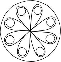Mandalas zum Ausdrucken Tolle BlumenMandalaVorlage zum Ausmalen