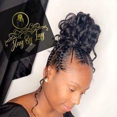 Black Hair Updo Hairstyles, Hair Ponytail Styles, Feed In Braids Hairstyles, Braids Hairstyles Pictures, Braided Ponytail Hairstyles, Braided Hairstyles For Black Women, Sleek Ponytail, My Hairstyle, Baddie Hairstyles