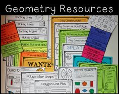 Geometry Unit Games Activities Assessments  Includes Other