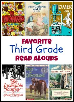 Favorite third grade read aloud books - a collection of our favorite read alouds for third graders.
