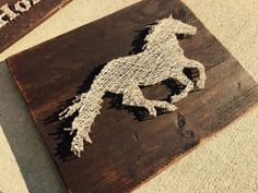 Running Horse String Art by StringsAttachedKY on Etsy