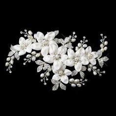WF9636 - Vintage flower, pearl and crystal headpiece Buy Crystal, Swarovski and Bridal Jewellery Online - Rush Creations