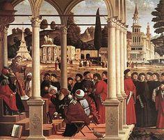 Vittore Carpaccio, Disputa di santo Stefano,1514, Milano, Pinacoteca di Brera