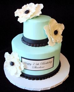 Tiffany Blue Cake...something like this for my grad party :)