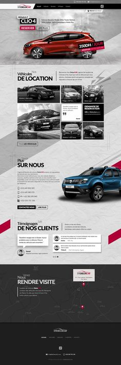 Responsive Website : Web Design & Development for a Rental Car company With an Attractive Revolution Parallax Slider Ecommerce Website Design, Homepage Design, Responsive Web Design, Best Web Design, App Design, Brand Design, Design Ideas, Layout Web, Layout Site