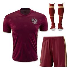 2016 russia national team home red jersey whole kit(shirt+shorts+socks)