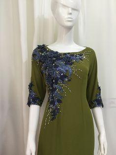 Ao dai Nho's Vietnamese Traditional Dress, Traditional Dresses, Moroccan Caftan, Special Dresses, Abaya Fashion, Embroidery Dress, Ao Dai, Long Tops, Simple Dresses
