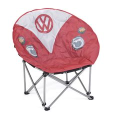 Gifts For Camper Van Owners Campervan Accessories Board Masters Volkswagen Deluxe VW Folding Camping Chair Lightweight Portable Heavy Duty Padded with Cup Holder