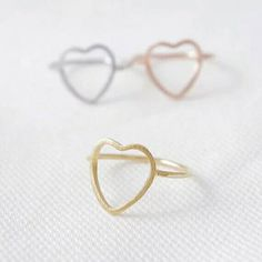 Heart Ring Dainty Jewelry Minimalist Ring Everyday by newfemme  #handmadejewelry #handmade #handmadejewellery #gemstone #ring #silverring #silver #etsy #etsyseller #etsylover #etsyhandmade #dainty #women #fine #specialjewelry #shop #newfemmeshop #goldring #rosegoldring