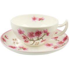 Teetasse 0,2l Kirschblüte - Fine Bone China Porzellan in Möbel & Wohnen, Kochen & Genießen, Gedeckter Tisch   eBay