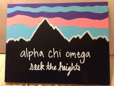 Alpha Chi Omega Patagonia Inspired Canvas