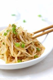 This simple 10 minute Korean bean sprout salad is fresh, crunchy, and addicting. Toss into a stir fry, enjoy it as a side dish, or mix into a salad.