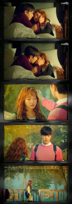 """Cheese In The Trap"" kiss on the bed @ HanCinema :: The Korean Movie and Drama Database"