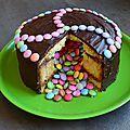C'est mon anniversaire alors on fête ça avec un Pinãta cake!! Facile à faire, même avec les enfants, plus ou moins recherchés...