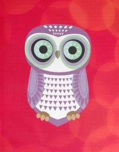 'Purple Owl' from zazzle