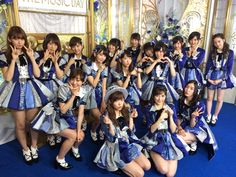"""AKB48 45th single senbatsu member performing """"LOVE TRIP"""" for the first time at THE MUSIC DAY"""